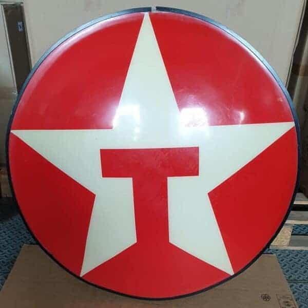 Enseigne originale de station service americaine de la marque Texaco