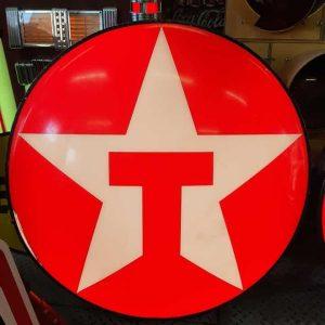 enseigne originale de station service americaine de la marque texaco 85cm lighted