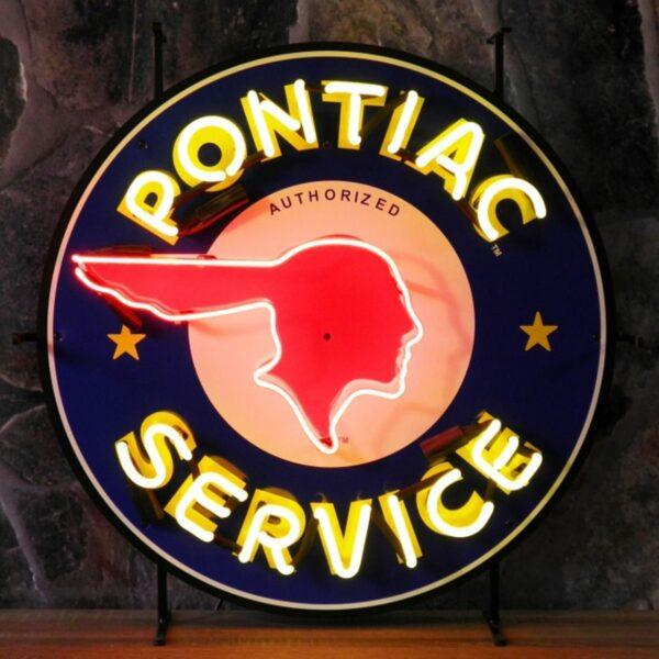 NF 8344 Pontiac Service neon publicitaire americain