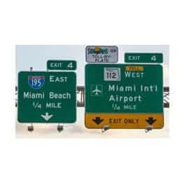 Panneaux de Routes et Villes Américaines