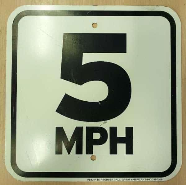 Panneau routier americain 5 mp