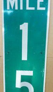 Panneau routier americain Mile 15
