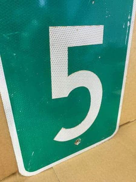 Panneau routier américain MILE 15