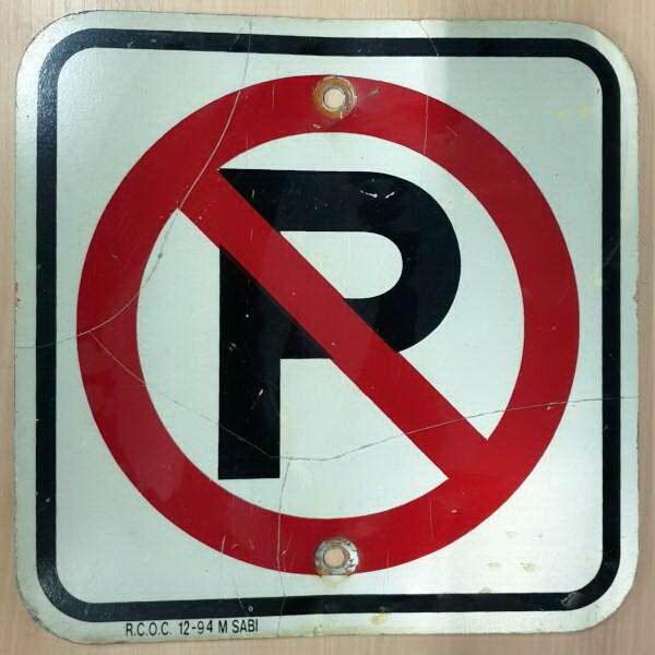 Panneau routier americain No Parking