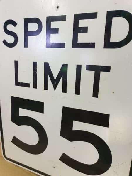 Panneau routier américain SPEED LIMIT 55