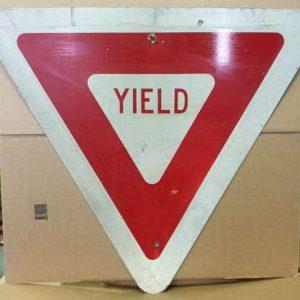 Panneau routier americain Yield