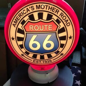 Globe de pompe à essence Route 66
