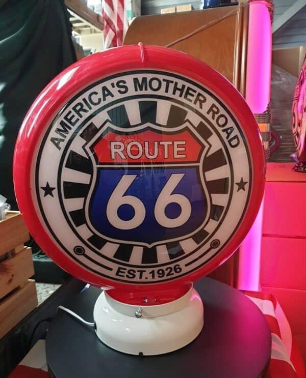 Globe de pompe à essence – Route 66