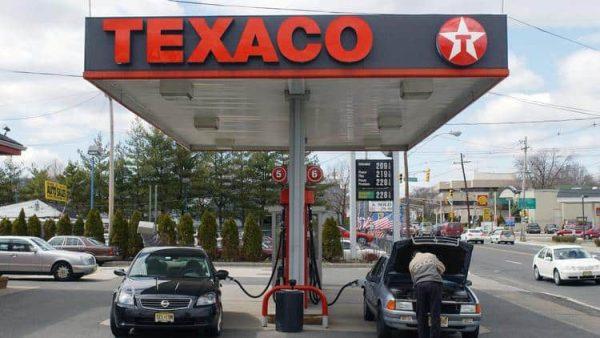 Enseigne authentique de station service TEXACO avec Sign Rond Etoile