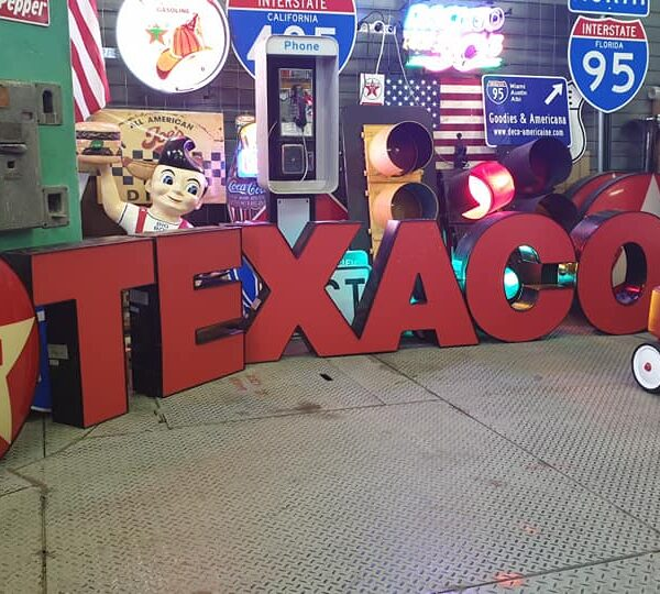 Enseigne De Station Service Texaco Et Star Sign 5