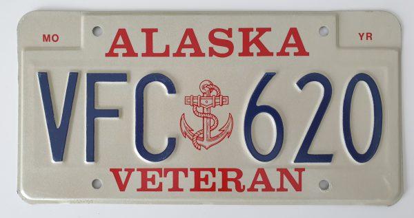Plaque d'immatriculation américaine – ALASKA Veteran