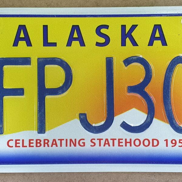 Plaque immatriculation americaine Alaska