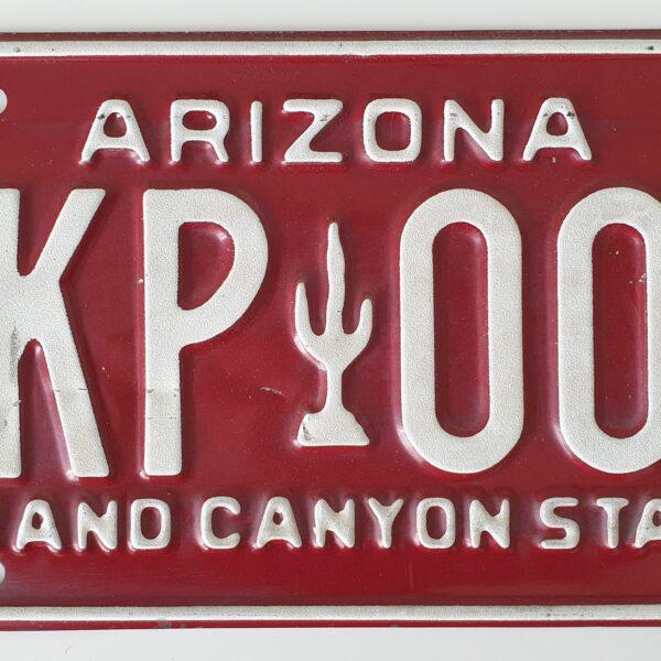 Plaque immatriculation americaine Arizona