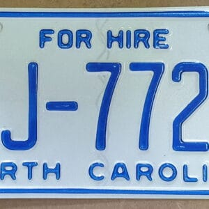 Plaque immatriculation americaine Caroline du Nord
