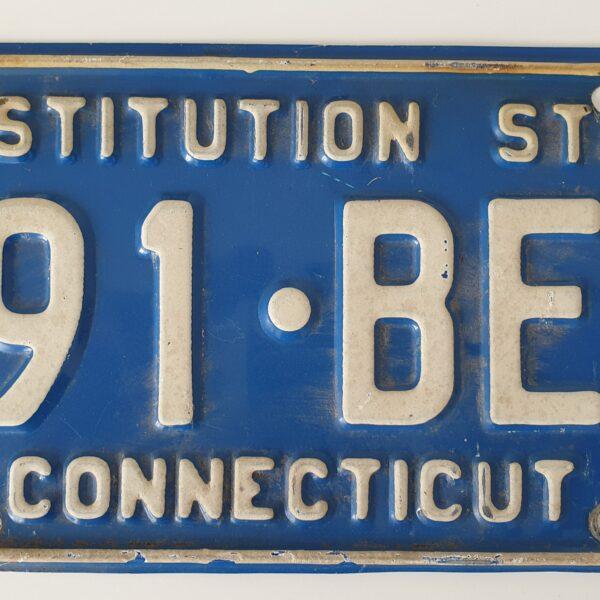 Plaque immatriculation americaine Connecticut