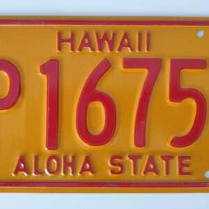 Plaque immatriculation americaine Hawaii