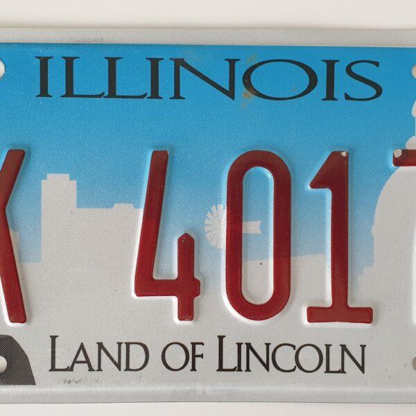 Plaque immatriculation americaine Illinois