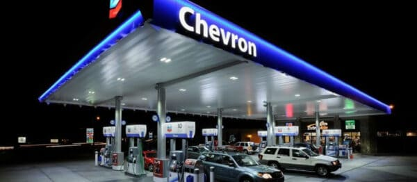 Enseigne authentique de station service CHEVRON Lettrage