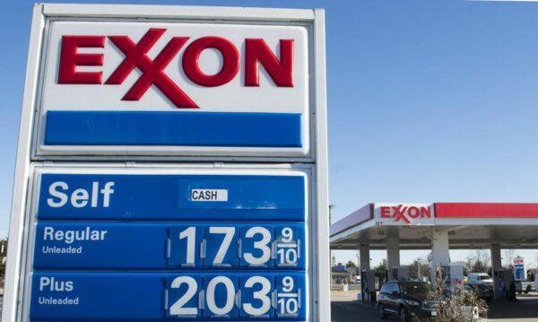 Enseigne authentique de station service EXXON