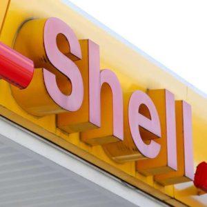 Enseigne de station service Shell 9'
