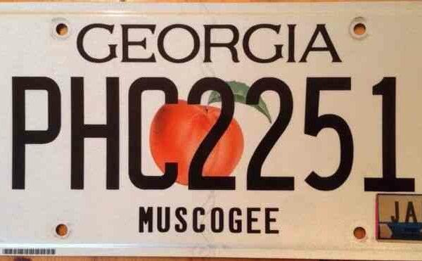 Plaque d'immatriculation américaine - GEORGIA