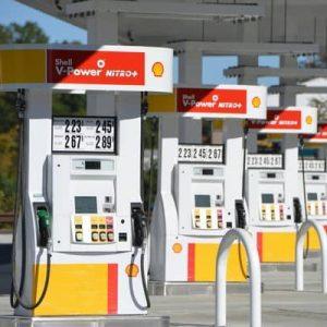 Porte de pompes a essence Shell