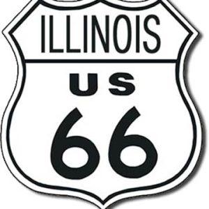 Plaque de décoration murale Route 66 ILLINOIS