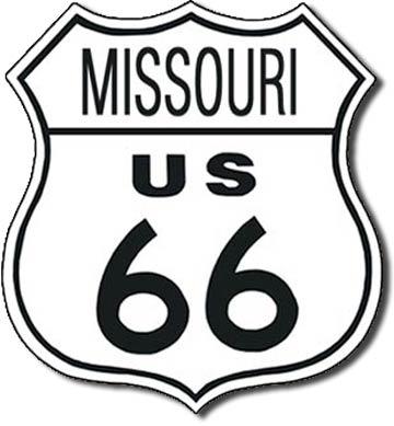 Plaque de décoration murale Route 66 MISSOURI