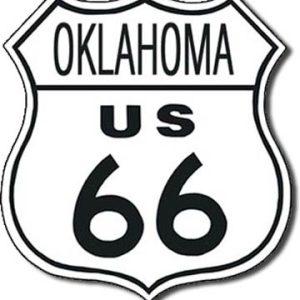 Plaque de décoration murale Route 66 OKLAHOMA