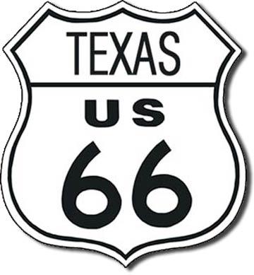 Plaque de décoration murale Route 66 TEXAS
