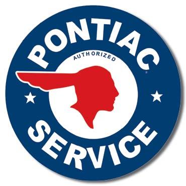 Plaque de décoration murale Pontiac Service