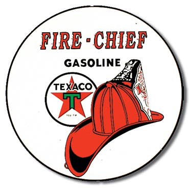 Plaque de décoration murale Texaco Fire Chief