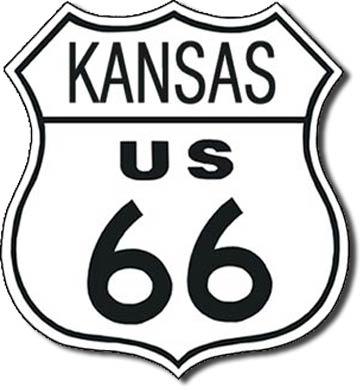 Plaque de décoration murale Route 66 KANSAS