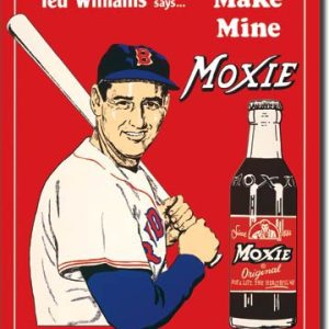 Plaque publicitaire américaine métal Ted's Moxie