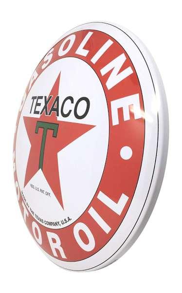 Plaque publicitaire bombée Texaco