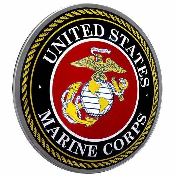 Plaque publicitaire bombée United States Marine Corps