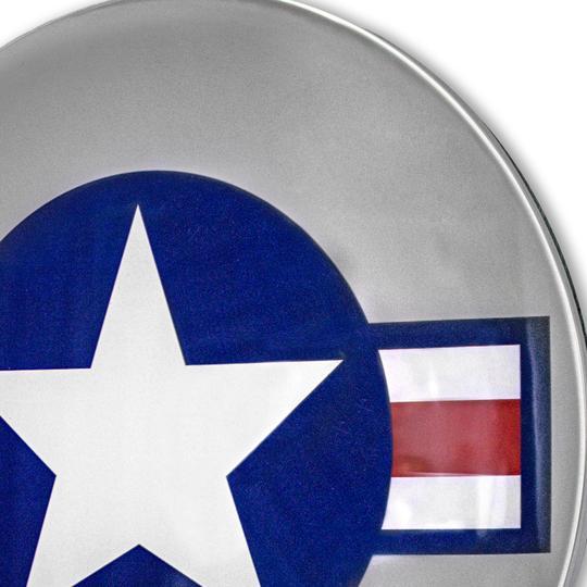 Plaque publicitaire bombée U.S. Air Star Emblême