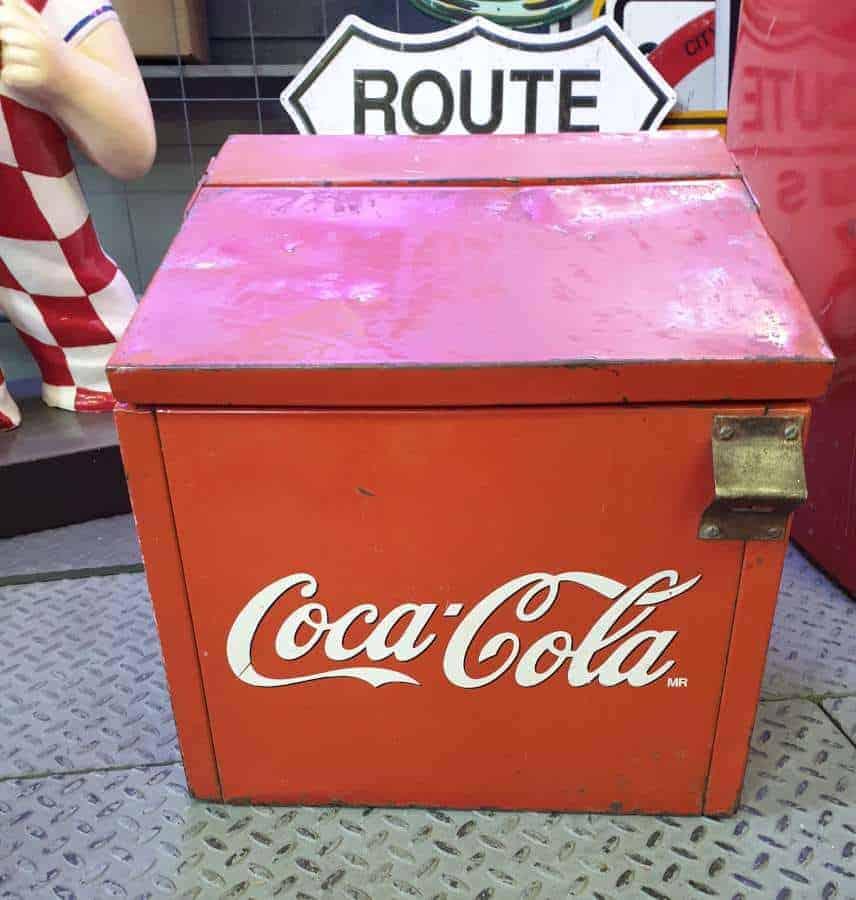 Glaciere Cooler Vintage Coca-Cola Brocante Americaine