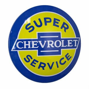 Plaque publicitaire bombee Chevrolet