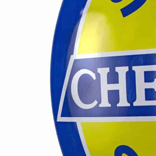 Plaque publicitaire bombée Chevrolet Super Service