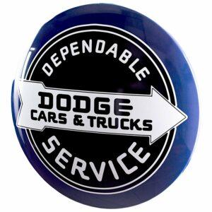 Plaque publicitaire bombee Dodge