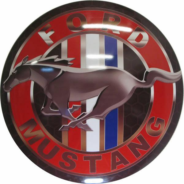 Plaque publicitaire bombée Ford Mustang