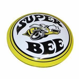 Plaque publicitaire bombee Super Bee