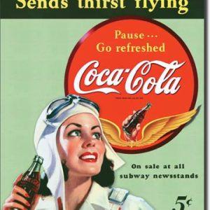 Plaque publicitaire The Coca-Cola Company- Coke