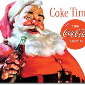 Plaque publicitaire The Coca-Cola Company- Santa Coke Time