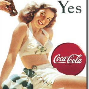 Plaque publicitaire The Coca-Cola Company - White Bathing