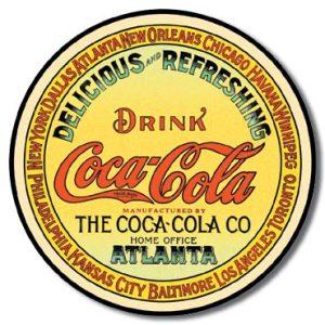Plaque publicitaire The Coca-Cola Company - Round Keg Label