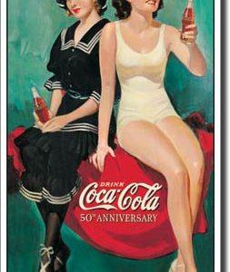 Plaque publicitaire The Coca-Cola Company - 50th Anniversary