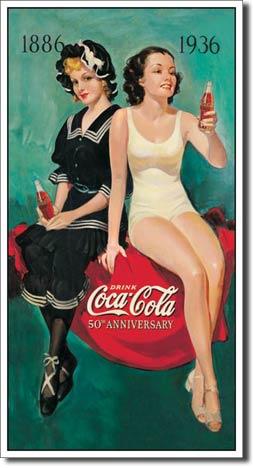 Plaque publicitaire The Coca-Cola Company – 50th Anniversary