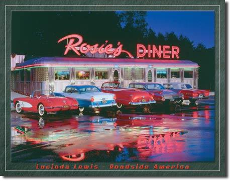 Plaque publicitaire américaine métal L.Lewis – Rosie's